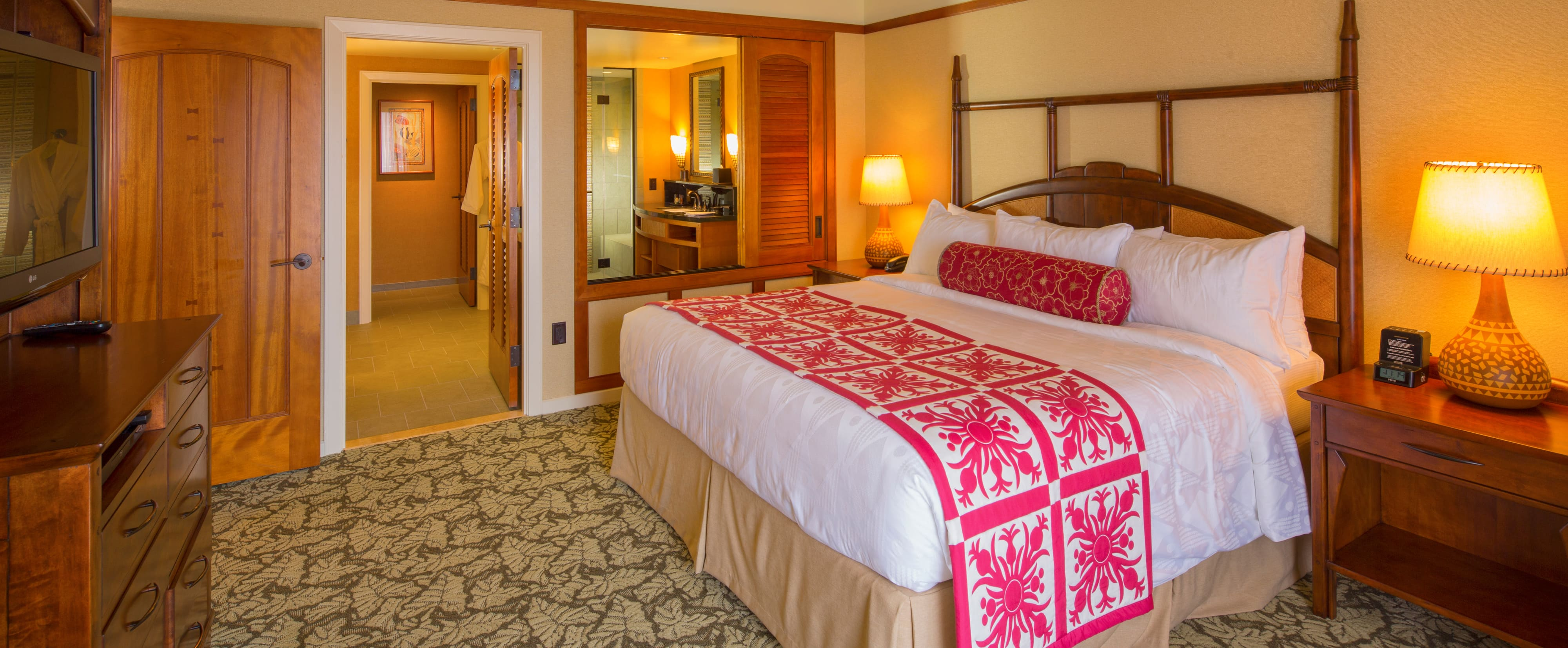 The master bedroom of the 1-Bedroom Suite