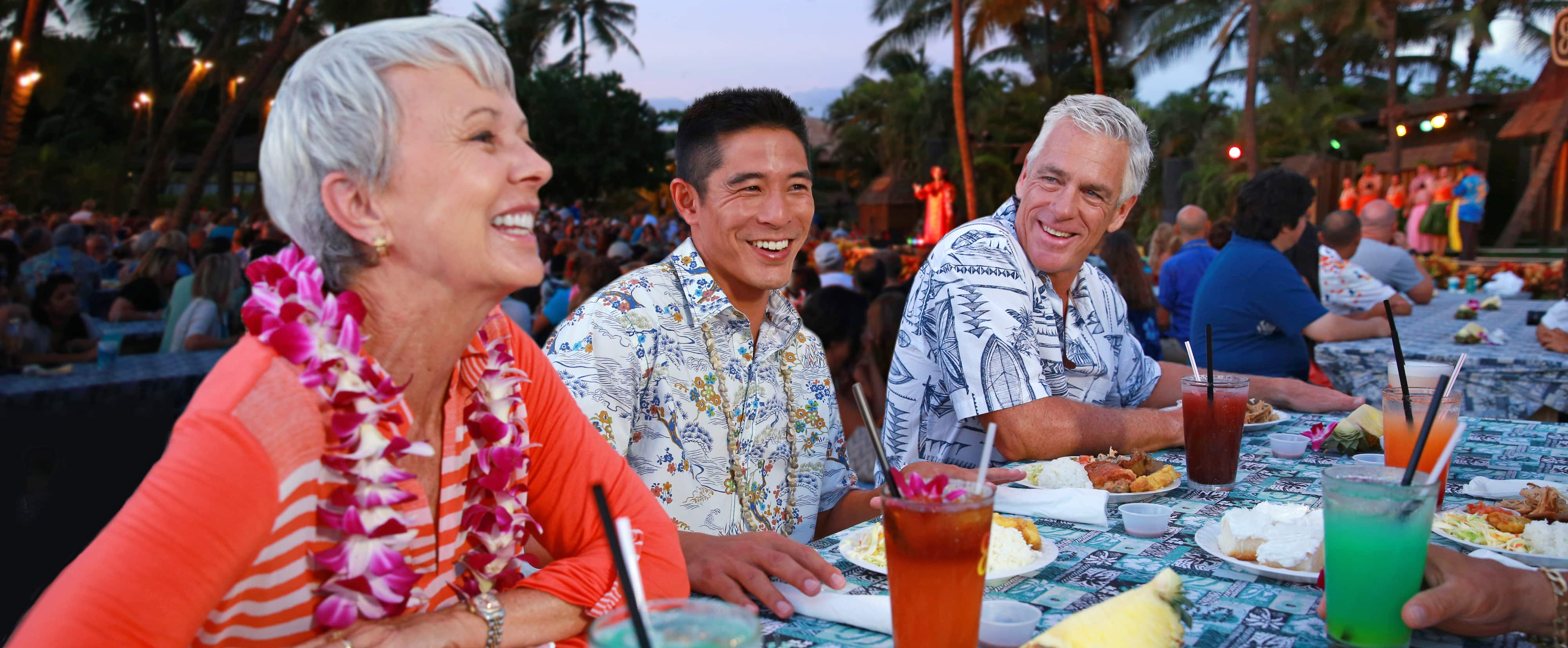 A traditional feast at Paradise Cove Luau