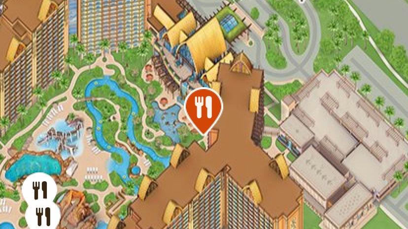 The Aulani Resort Map