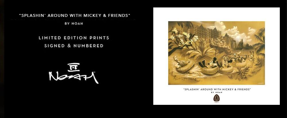 川にいるミッキーマウスと仲間たちの絵 - ノア作「Splashin Around With Mickey and Friends」