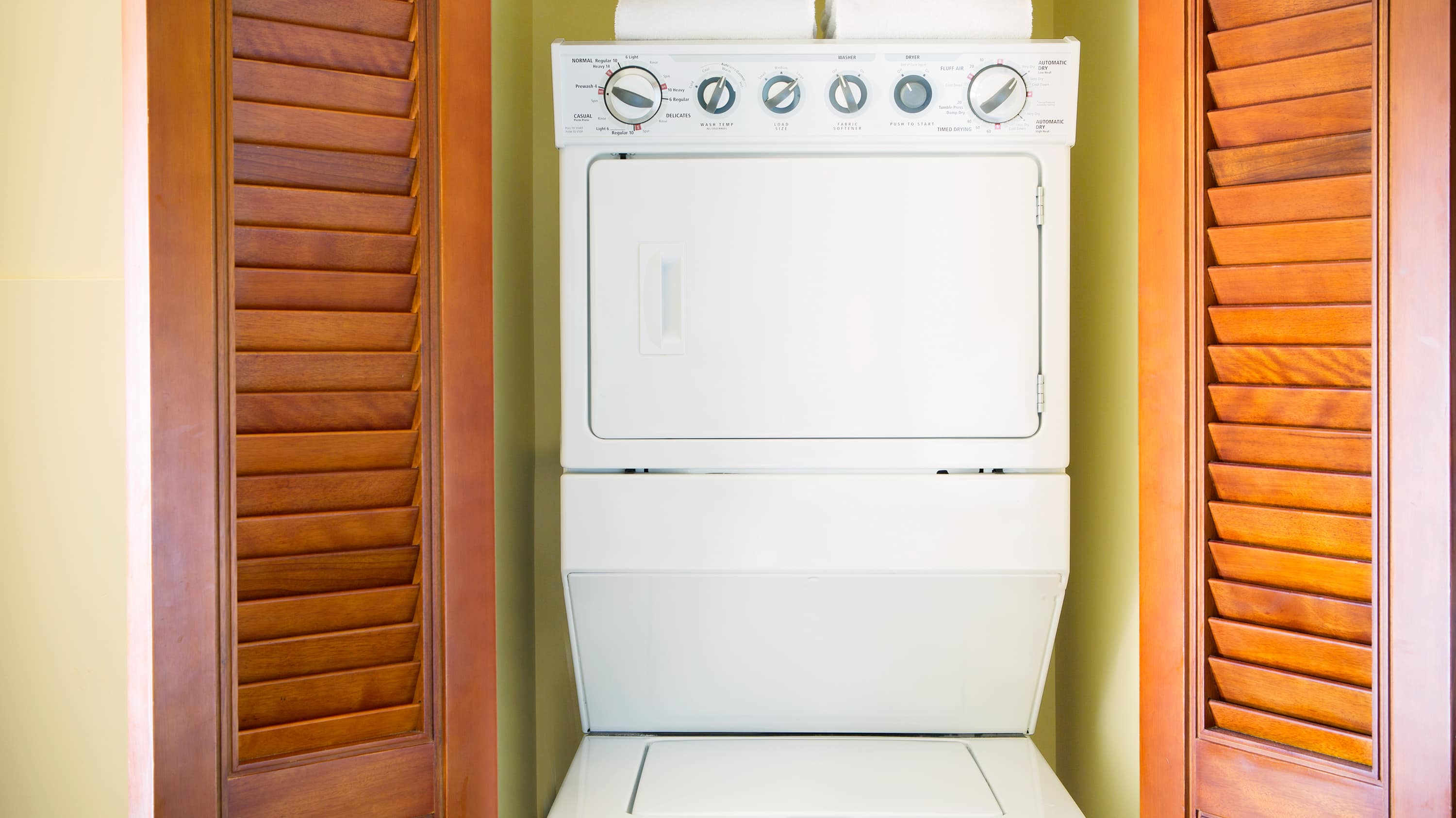 A washer and dryer unit