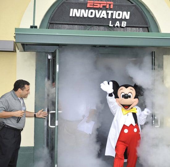 Mickey at ESPN'S Innovation Lab