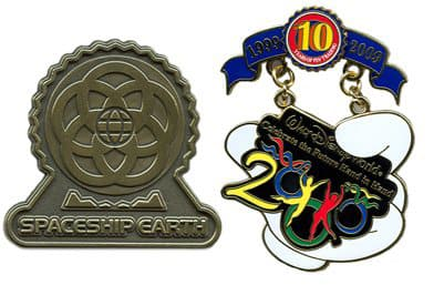 Limited Edition 100 pin pictured left; Tribute Collection pin pictured right