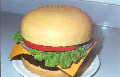 Disney Weddings Burger Cake