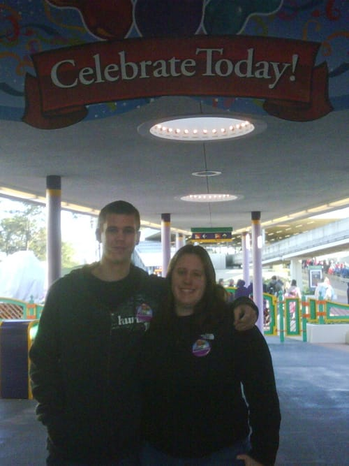 First 'Give a Day, Get a Disney Day' Guests at Magic Kingdom Park, Megan Connors and Torey Bixler