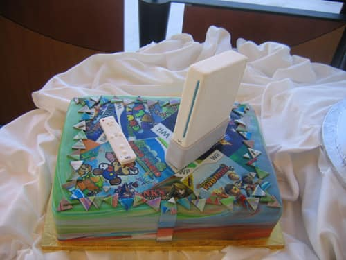 Disney Weddings Wii Cake