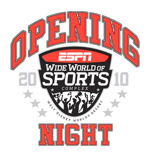 One-of-a-kind ESPN Wide World of Sports Complex commemorative t-shirt