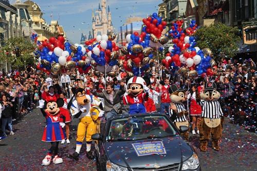 Walt Disney World Parade Celebrates Super Bowl MVP Drew Brees