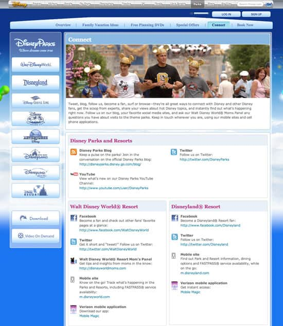 Disney Parks Social Media -- Stay Connected