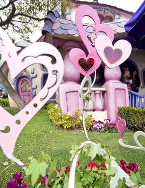 Pink Hearts at Minnie Mouse's House