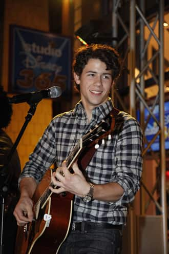 Nick Jonas at the Downtown Disney District in Anaheim