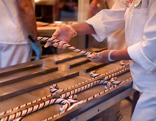 Making Candy Canes on Main Street, U.S.A.