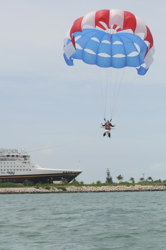 Parasailing Wedding Aboard Disney Cruise Line