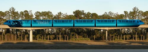 Disney Monorail Trains to Feature TRON: LEGACY Art