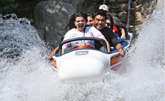 George Lopez Makes a Splash at Disneyland Park