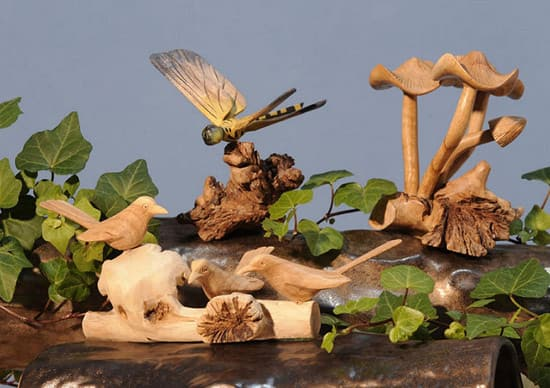 The Global Gecko offers unique one-of-a-kind tree branch woodcarvings