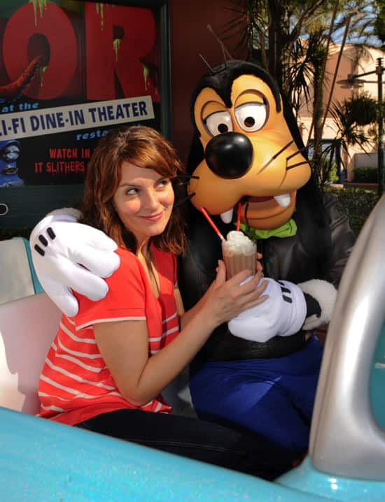 Tina Fey at Sci-Fi Dine-In Theater at Disney's Hollywood Studios