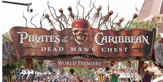 Premiere of 'Pirates of the Caribbean: Dead Man's Chest' at Disneyland Park