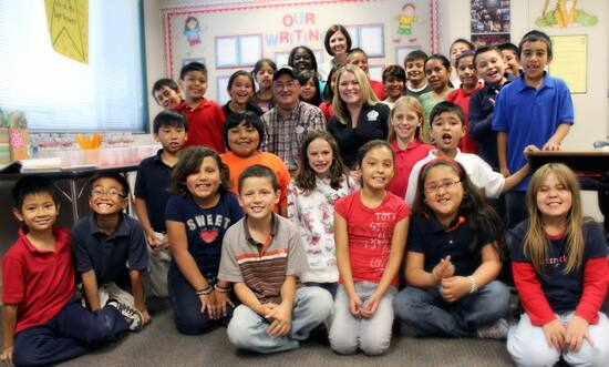 Reading with Orange Grove Elementary