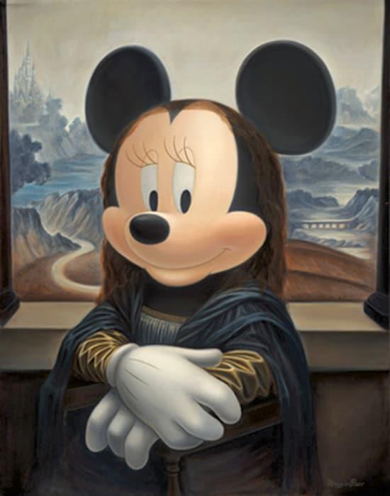 Minnie as the Mona Lisa