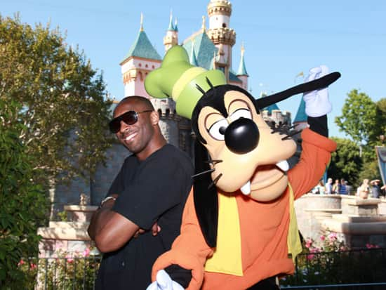 Goofy with Kobe Bryant