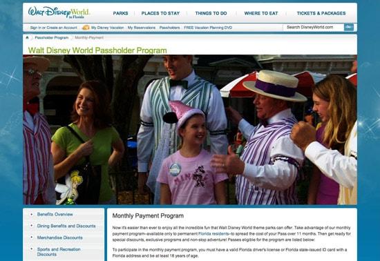 New Monthly Payments Program Begins at Walt Disney World