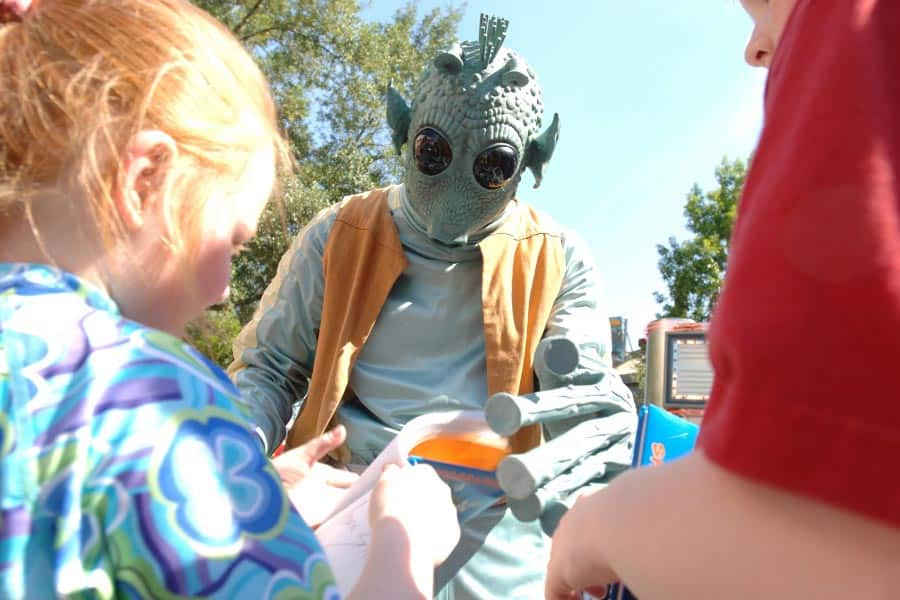 Character signing autographs at Star Wars Weekends