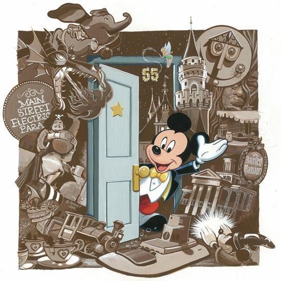 Disneyland 55th Anniversary Artwork