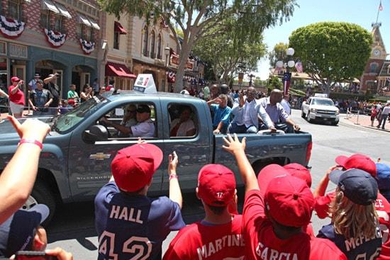Little League Players Enjoying the Parade