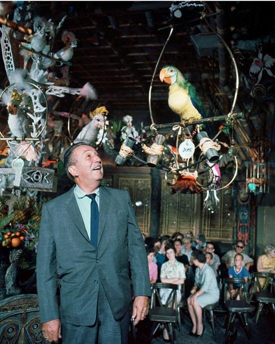 Walt Disney in the Enchanted Tiki Room