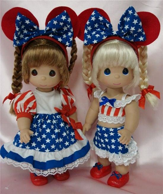 Patriotic Precious Moments Dolls