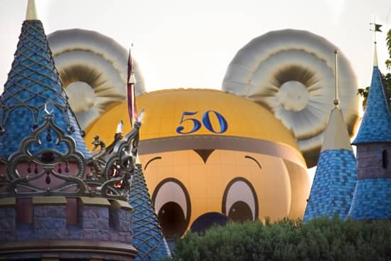 Mickey Balloon by Sleeping Beauty Castle