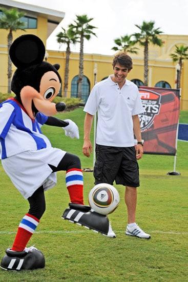 Brazilian Soccer Star Kaka and Mickey