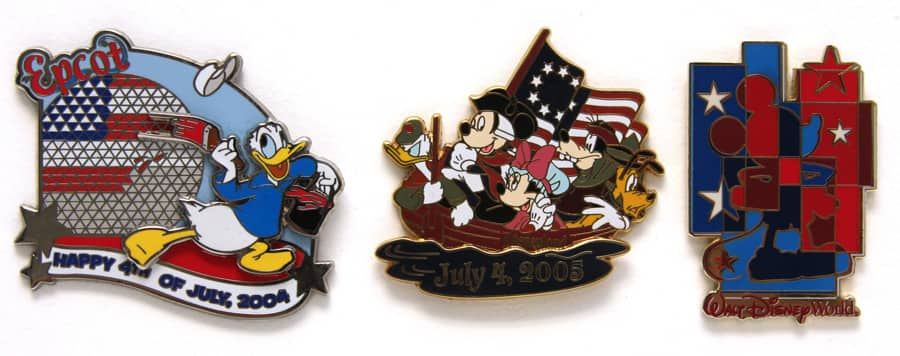 Red, White and Blue Disney Pins   Disney Parks Blog