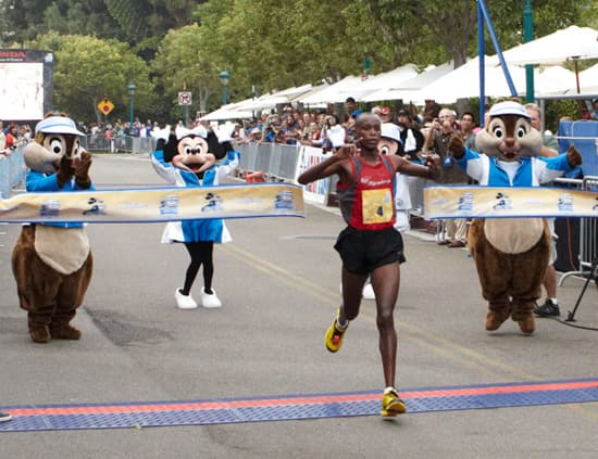 Paul Ngeny Finishes the Disneyland Half Marathon