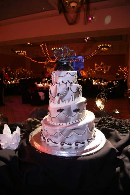 Halloween Themed Wedding Cake