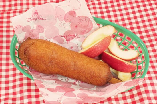 Disneyland Corn Dog with Apples