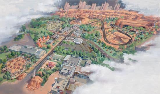 Aerial Map of Cars Land