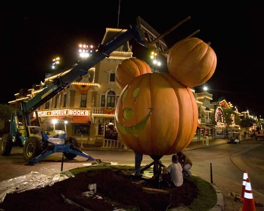 Giant Mickey Pumpkin