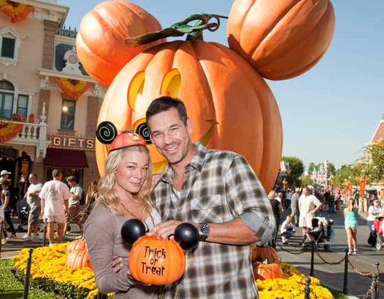 LeAnn Rimes and Eddie Cibrian Celebrate Halloween Time at Disneyland Park