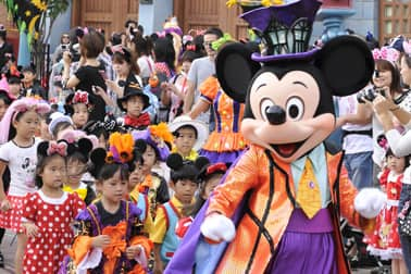 'Welcome to Spookyville' parade at Tokyo Disneyland