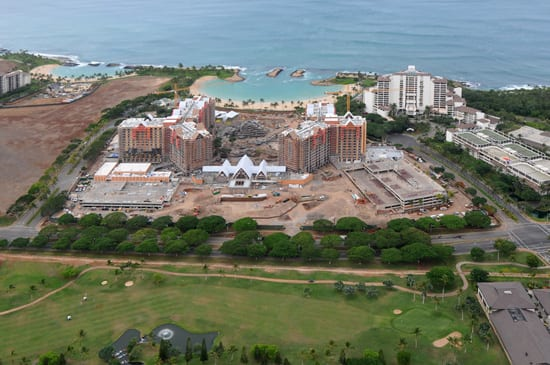 Aerial View of Aulani, a Disney Resort & Spa