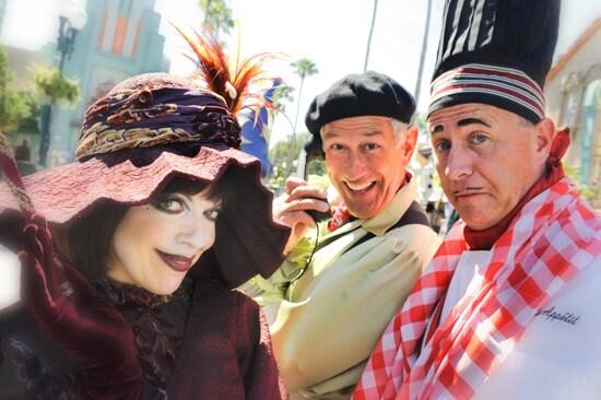 Miss Dorma Nesmond, Vladimir Pooey, and Chef Ben Appetit at Disney's Hollywood Studios