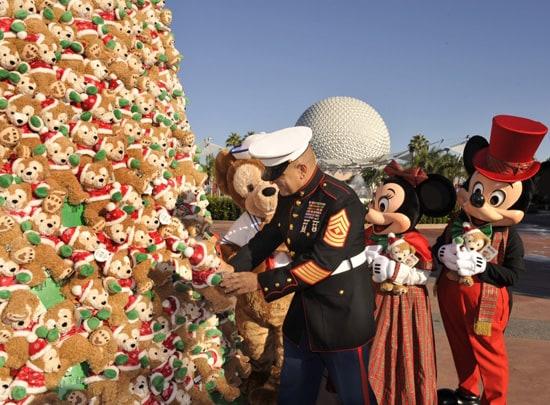 US Marine and Duffy the Disney Bear Tree