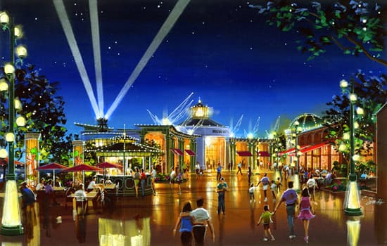 Artist Rendering of the New Waterfront District 'Hyperion Wharf' at Downtown Disney