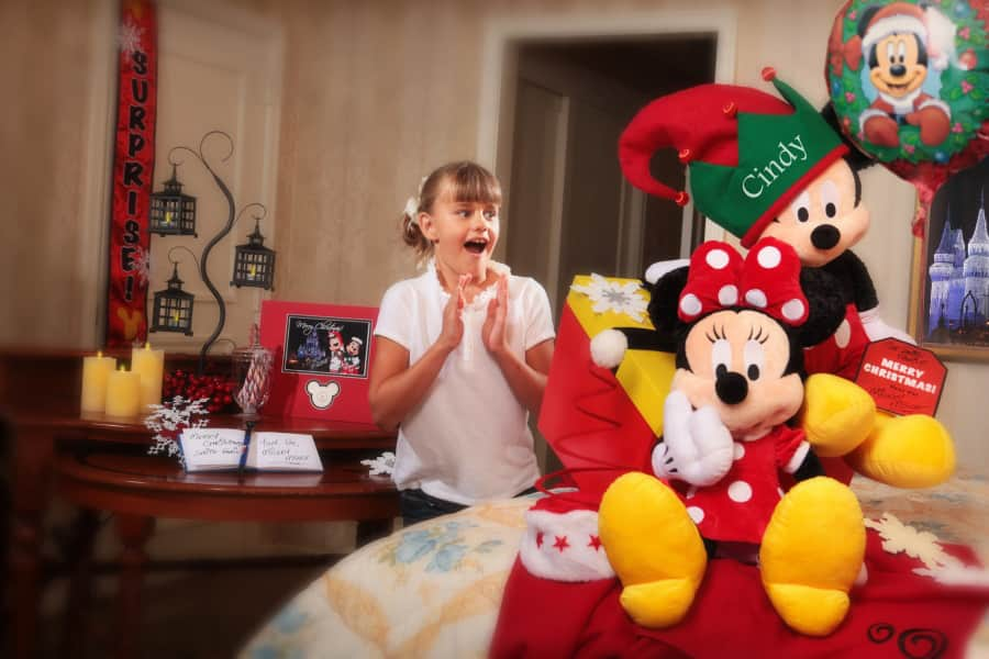 dreaming of a disney christmas in room celebration package from disney floral gifts - Disney Christmas Gifts