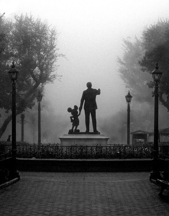 Partners in the Morning Fog, Mickey Mouse and Walt Disney