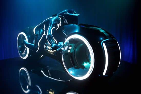 """Full-Scale Model of a Light Cycle from Disney's """"TRON: Legacy"""""""