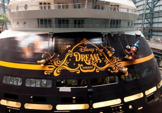 Sorcerer Mickey and 'Fantasia' Characters on the Disney Dream Stern