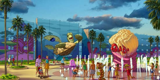 Artist Rendering of the 'Finding Nemo' Area at Disney's Art of Animation Resort